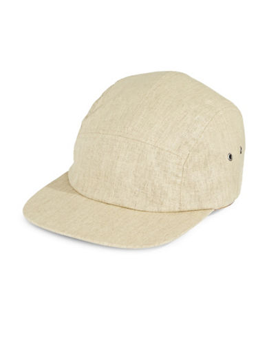 Nathaniel Cole Adjustable Linen Blend Cap-TAN-One Size
