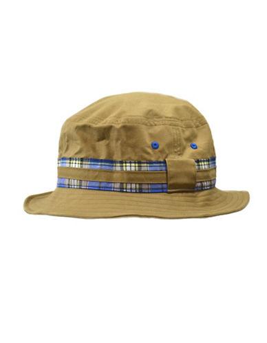 Black Brown 1826 Cotton Twill Bucket Hat-TAUPE-Medium/Large