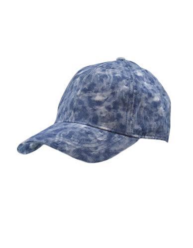Nathaniel Cole Adjustable Six-Panel Baseball Cap-BLUE-One Size