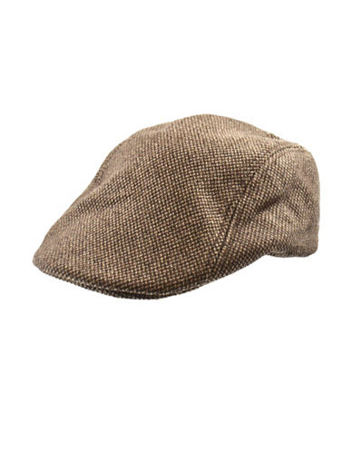 Black Brown 1826 Tweed Duckbill Ivy Cap-BROWN-Large/X-Large