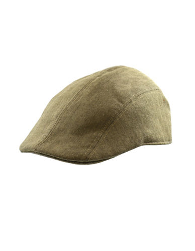 Black Brown 1826 Fine Wool Herringbone Ivy Cap-TAN-Large