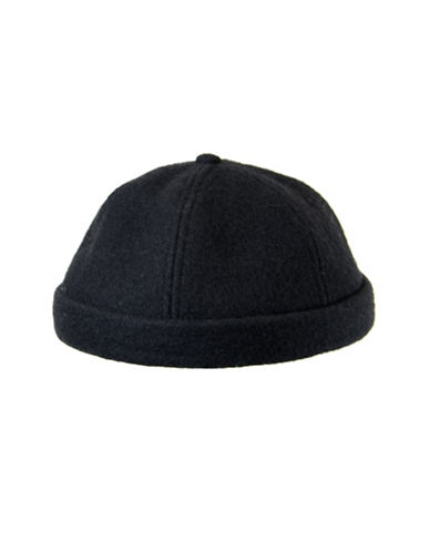 Nathaniel Cole Wool-Blend Melton Six-Panel Beanie-BLACK-Large/X-Large