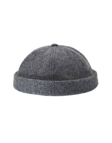 Nathaniel Cole Wool-Blend Melton Six-Panel Beanie-GREY-Medium/Large