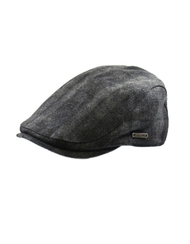 Nathaniel Cole Wool-Blend Tonal Plaid Duckbill Ivy Cap-GREY-X-Large