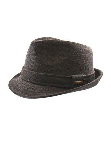 Nathaniel Cole Wool-Blend Fedora Hat-BROWN-Medium