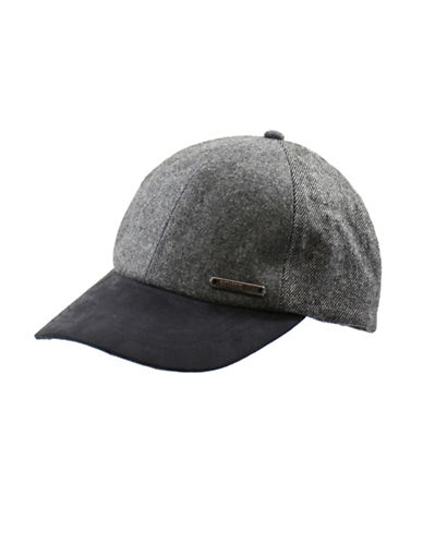Nathaniel Cole Wool-Blend Adjustable Twill and Tweed Ball Cap-GREY-One Size