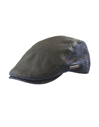 Nathaniel Cole Waxed Cotton Ivy cap-BLUE-Medium
