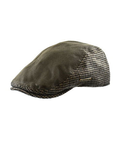 Nathaniel Cole Waxed Cotton Ivy cap-GREEN-Large