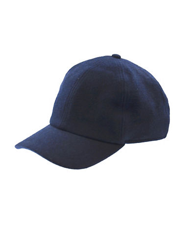 London Fog Drop Down Earband Baseball Cap-NAVY-Large
