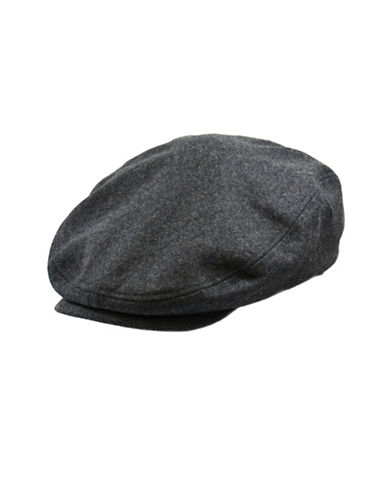 London Fog Wool-Blend Newsboy Hat-CHARCOAL-Medium