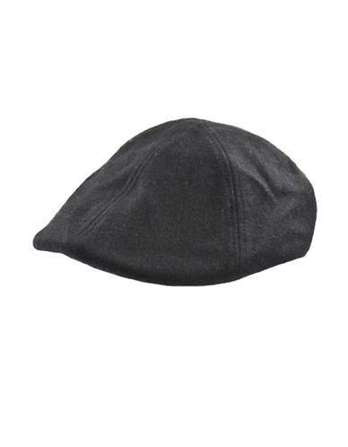 London Fog Wool Duckbill Ivy Cap-BLACK-Medium