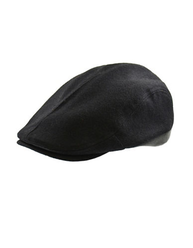 London Fog Wool-Blend Ivy Cap-BLACK-Medium