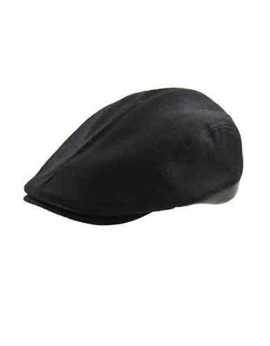 London Fog Wool-Blend Ivy Cap-BLACK-X-Large