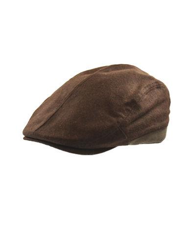 London Fog Wool-Blend Ivy Cap-BROWN-X-Large