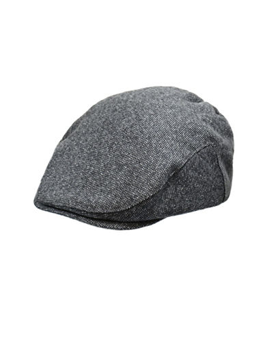 London Fog Wool Blend Tweed Ivy Cap-GREY-Large