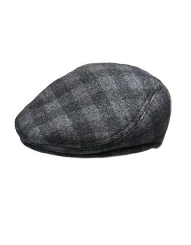 London Fog Wool Blend Molded Ivy Cap-GREY-Medium