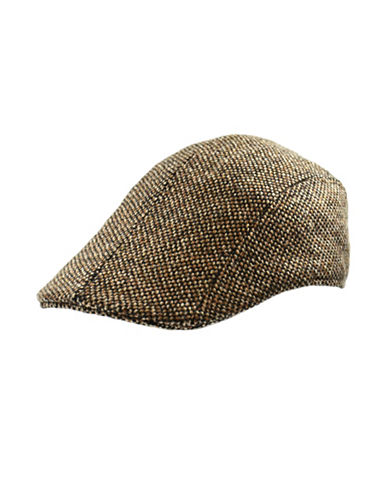 London Fog Donegal Tweed Duckbill Ivy Cap-BROWN-X-Large