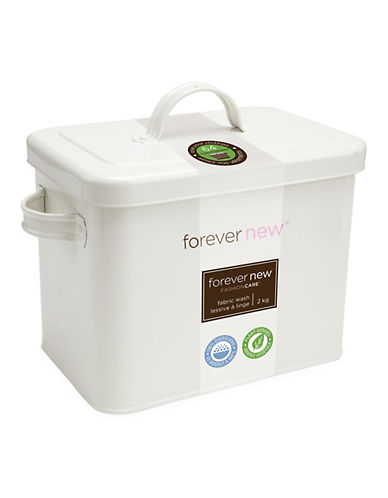 Forever New 2 KG Forever New Powder and Retro Style Laundry Tin Set-NO COLOR-One Size