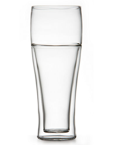 Brilliant Set of Two Double Pilsner Glasses-CLEAR-One Size