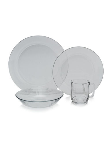 Duralex Lys Clear 24-Piece Dinnerware Set-CLEAR-One Size
