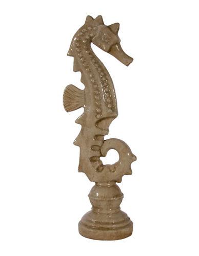 Home Details Terracotta Seahorse Ornament-BEIGE-24
