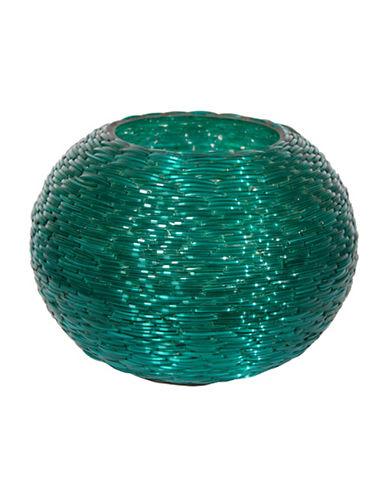 Cobistyle Bangle Beaded Glass Vase-TURQUOISE-20