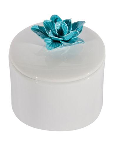 Cobistyle Hand-Painted Ceramic Jar-WHITE-15