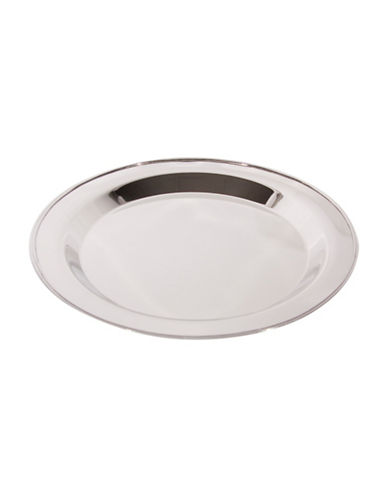 Home Details Round Stainless Steel Serving Tray-SILVER-63