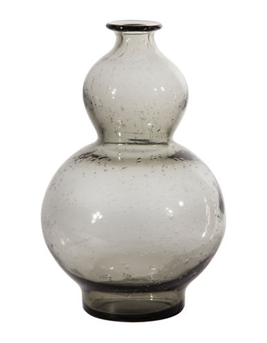 Home Details Hourglass Glass Vase-GREY-16