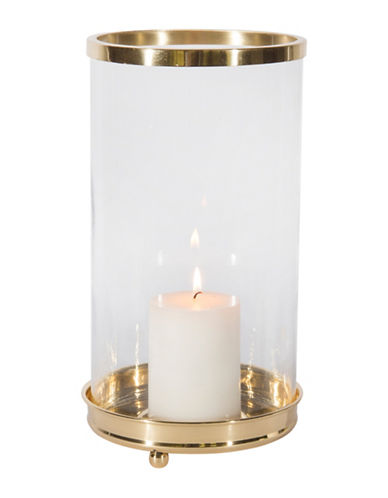 Cobistyle Hurricane Glass Candle Holder-GOLD-17