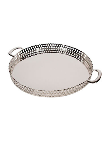 Steven And Chris Round Nickel Tray-NICKEL-36