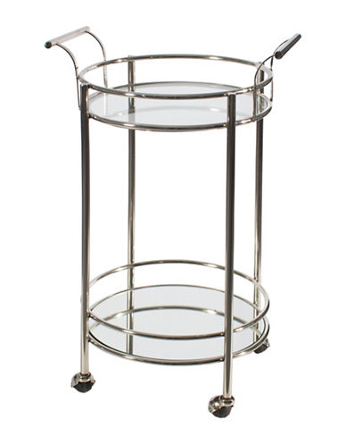 Home Details Round Nickel Trolley Cart-NICKEL-One Size