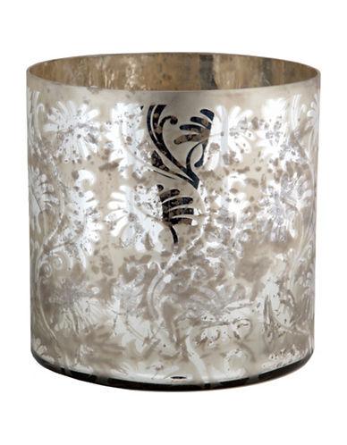 Home Details Mercury Glass Hurricane Antique Silver Vase-SILVER-12