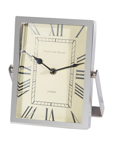 Steven And Chris Table Clock-NICKEL-One Size