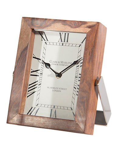 Steven And Chris Square Table Clock-NATURAL-One Size