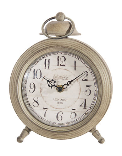 Home Details Round Table Clock-GREY-One Size