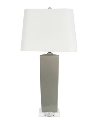 Steven And Chris Glass Table Lamp-GREY-One Size