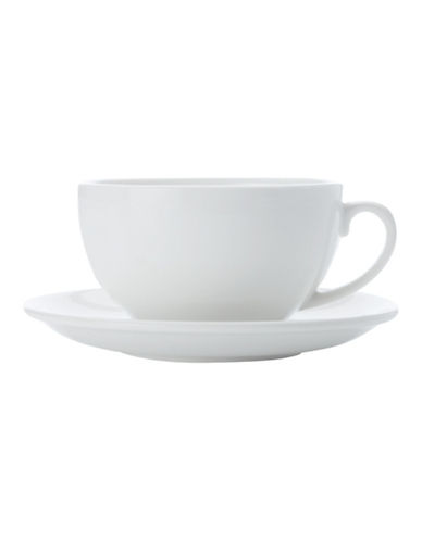 Maxwell & Williams Basic White Four-Pack Cappuccino and Saucer Set-WHITE-One Size 88144136_WHITE_One Size