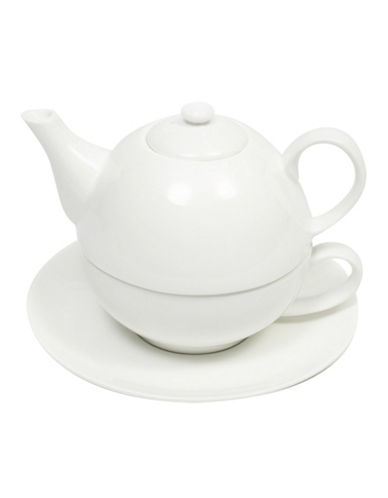 Maxwell & Williams Basic White Two-Pack Tea-for-One Set-WHITE-One Size
