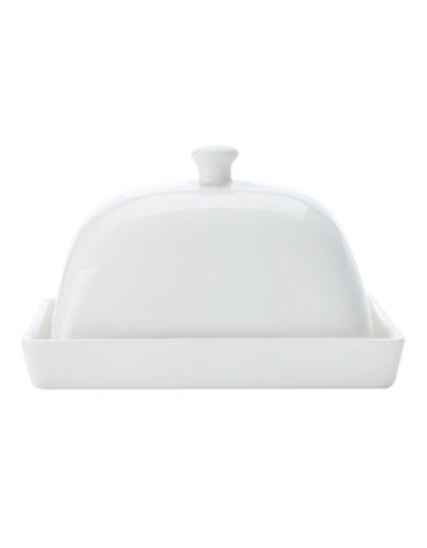 Maxwell & Williams Basic White Two-Pack Square Butter Dish Set-WHITE-One Size