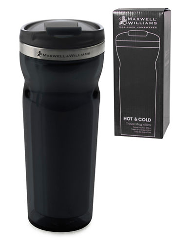 Maxwell & Williams Two-Pack Hot and Cold Travel Mugs-BLACK-One Size