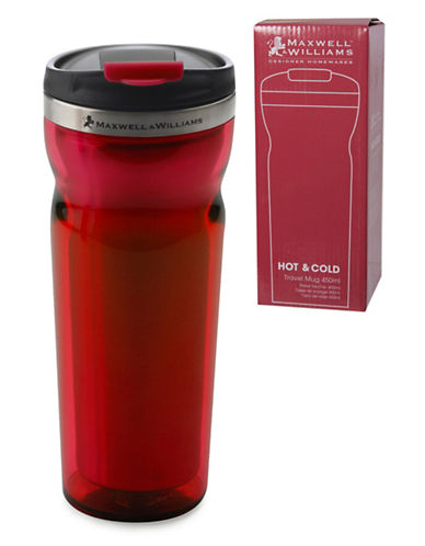 Maxwell & Williams Two-Pack Hot and Cold Travel Mugs-RED-One Size