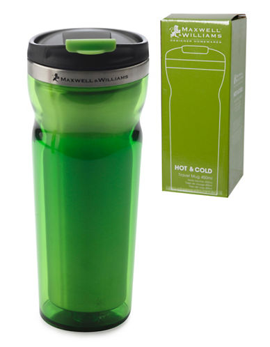 Maxwell & Williams Two-Pack Hot and Cold Travel Mugs-GREEN-One Size