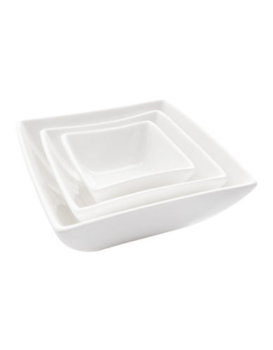Maxwell & Williams East Meets West Three-Piece Square Bowl Set-WHITE-One Size