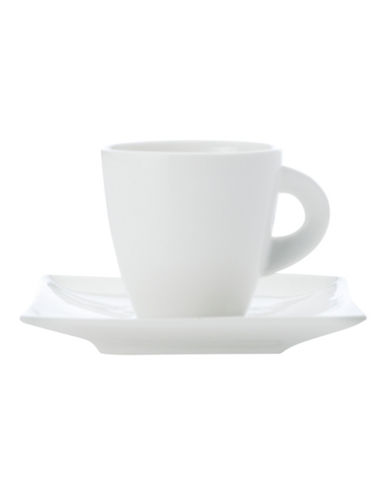 Maxwell & Williams East Meets West Four-Pack Demi-Cup and Saucer Set-WHITE-One Size 88144211_WHITE_One Size