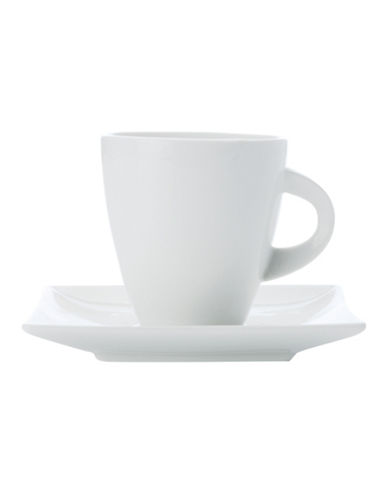 Maxwell & Williams East Meets West Four-Pack Cup and Saucer Set-WHITE-One Size