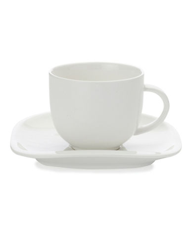 Maxwell & Williams Balance Four-Piece Cup and Saucer Set-WHITE-One Size