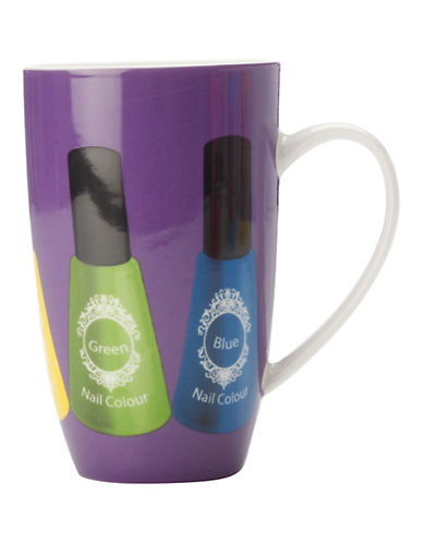 Maxwell & Williams Set of Three Topcoat Coupe Mugs-PURPLE-One Size 88185672_PURPLE_One Size