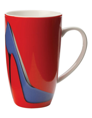 Maxwell & Williams Set of Three Sky High Coupe Mugs-RED-One Size