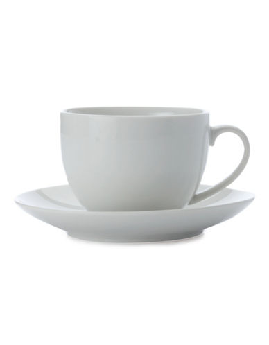 Maxwell & Williams Basic White Four-Pack Cup and Saucer Set-WHITE-One Size 88179620_WHITE_One Size